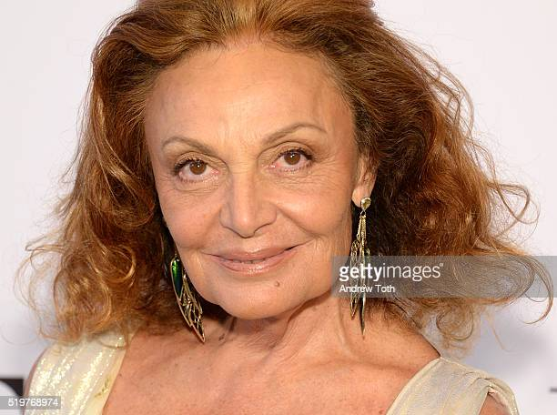Designer Diane von Furstenberg attends the 2016 DVF Awards at United Nations on April 7 2016 in New York City