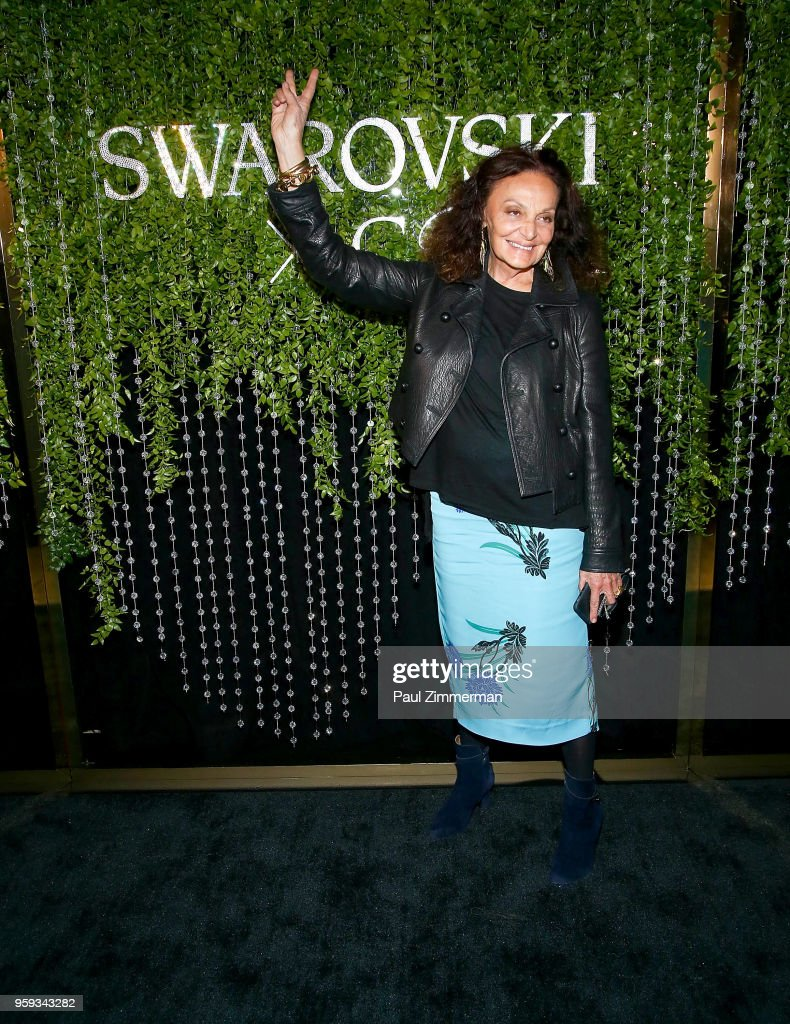 Designer Diane von Furstenberg attends the 2018 CFDA Fashion Awards' Swarovski Award For Emerging Talent Nominee Cocktail Party DUMBO House on May 16, 2018 in New York City.