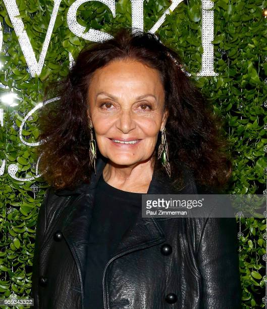 Designer Diane von Furstenberg attends the 2018 CFDA Fashion Awards' Swarovski Award For Emerging Talent Nominee Cocktail Party DUMBO House on May 16...