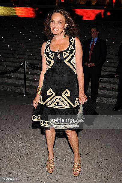 Designer Diane Von Furstenberg attends the 7th Annual Tribeca Film Festival Vanity Fair Party at the State Supreme Courthouse on April 22 2008 in New...