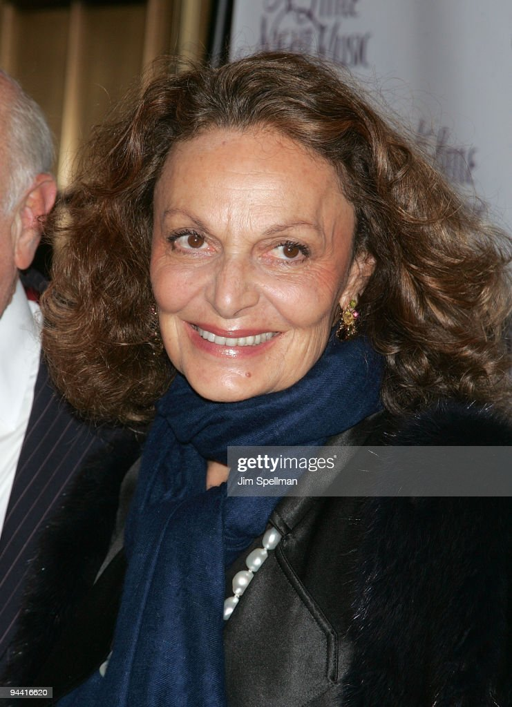 Designer Diane von Furstenberg attends the 'A Little Night Music' Broadway opening night at the Walter Kerr Theatre on December 13, 2009 in New York City.