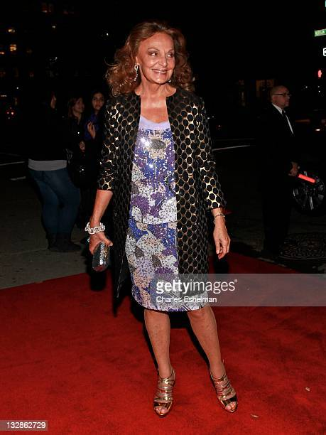 Designer Diane von Furstenberg attends the Arthur Christmas premiere at the Clearview Chelsea Cinemas on November 13 2011 in New York City