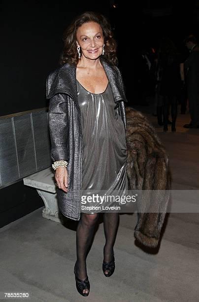 Designer Diane Von Furstenberg attends the Blogmode Addressing Fashion reception at The Metropolitan Museum of Art on December 17 2007 in New York...
