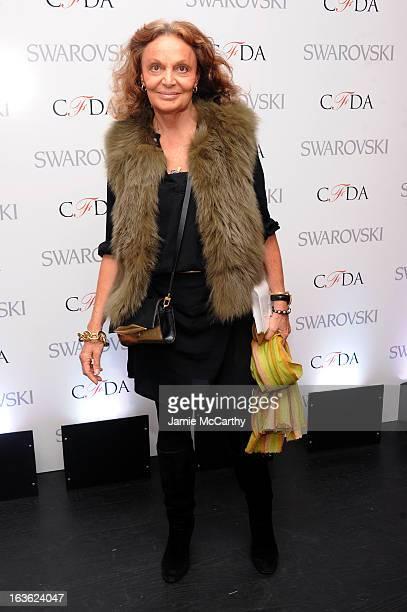Designer Diane von Furstenberg attends the CFDA 2013 Awards Nomination event on March 13 2013 in New York City