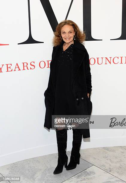 Designer Diane von Furstenberg attends the exhibition opening night gala for Impact 50 Years of the CFDA at The Fashion Institute of Technology on...