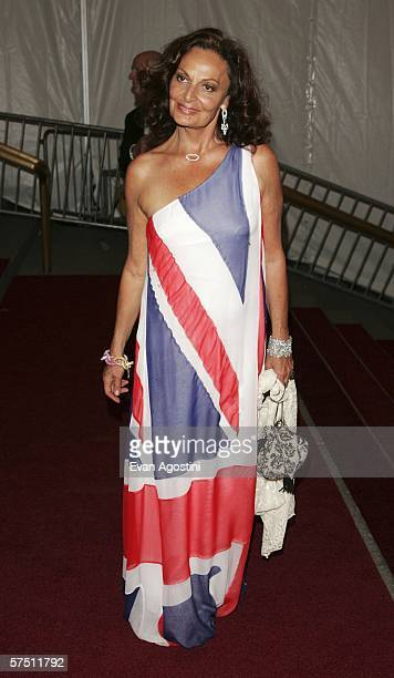 Designer Diane Von Furstenberg attends the Metropolitan Museum of Art Costume Institute Benefit Gala AngloMania Tradition and Transgression in...