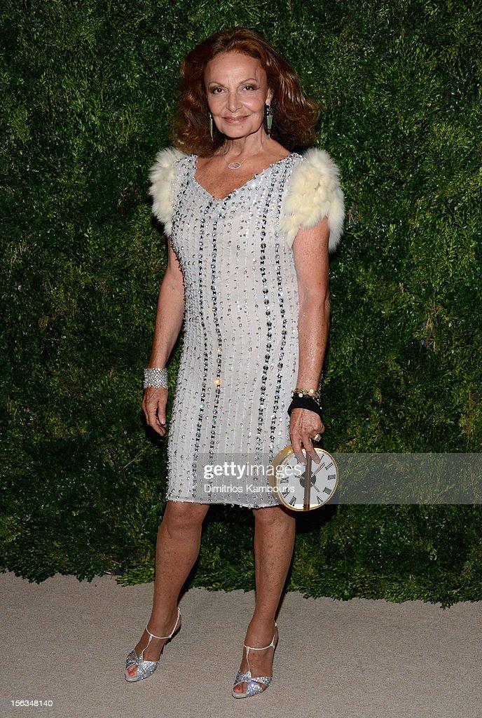 Designer Diane Von Furstenberg attends The Ninth Annual CFDA/Vogue Fashion Fund Awards at 548 West 22nd Street on November 13, 2012 in New York City.
