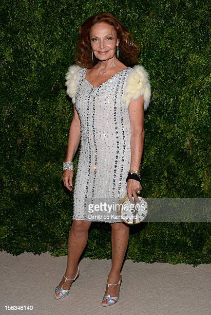 Designer Diane Von Furstenberg attends The Ninth Annual CFDA/Vogue Fashion Fund Awards at 548 West 22nd Street on November 13 2012 in New York City