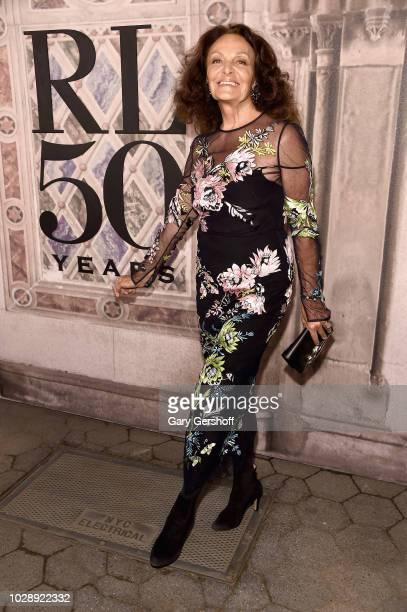 Designer Diane von Furstenberg attends the Ralph Lauren 50th Anniversary event during New York Fashion Week at Bethesda Terrace on September 7 2018...