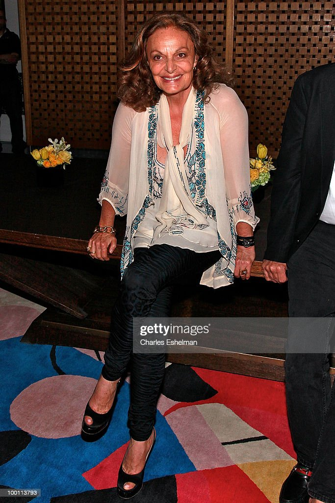 Designer Diane von Furstenberg attends the reception after the screening of 'The Making of 'Last Year at Marienbad' hosted by Diane von Furstenberg and Bernard-Henri Levi to benefit La Maison Francaise at New York University at Diane Von Furstenberg Gallery on May 20, 2010 in New York City.