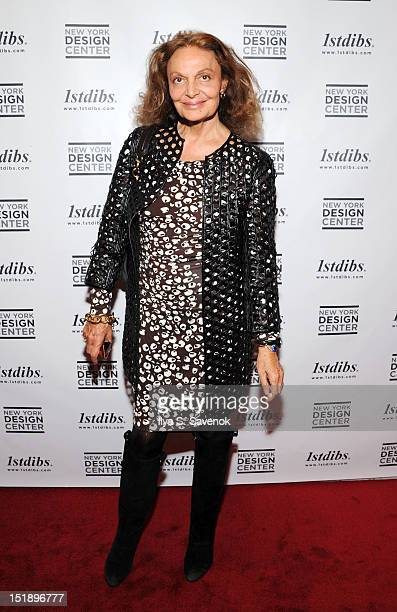 Designer Diane von Furstenberg attends the 'The World Of Gloria Vanderbilt Collages Dream Boxes And Recent Paintings' Exhibition Opening at 1stdibs...