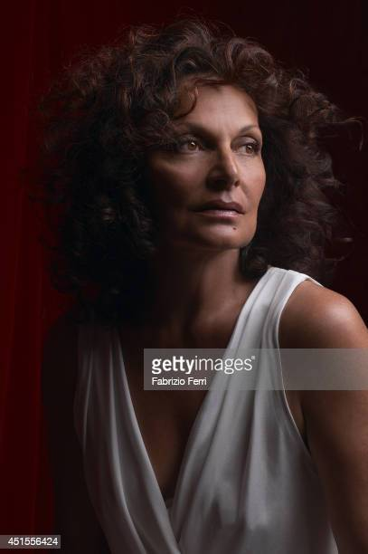 Designer Diane von Furstenberg is photographed in May 2001 in New York City