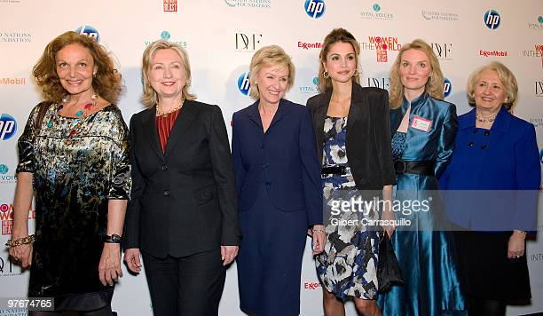 Designer Diane von Furstenberg Secretary of State Hillary Rodham Clinton founder and Editor in Chief of The Daily Beast Tina Brown Her Majesty Queen...