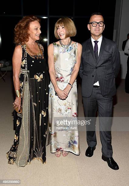 Designer Diane von Furstenberg Vogue Editorinchief Anna Wintou and CFDA President Steven Kolb attend the 12th annual CFDA/Vogue Fashion Fund Awards...