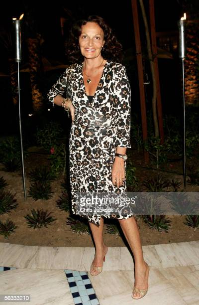Designer Diane von Furstenburg attends a drinks reception on the eve of Modern Luxury at the Park Hyatt Hotel on December 4th 2005 in Dubai, United...