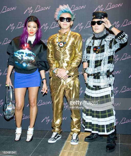 Designer DJ Yoon GDragon of South Korean boy band Bigbang and Verbal of hip hop group mflo attend the 'AMBUSH' Collaboration with GDragon of Bigbang...