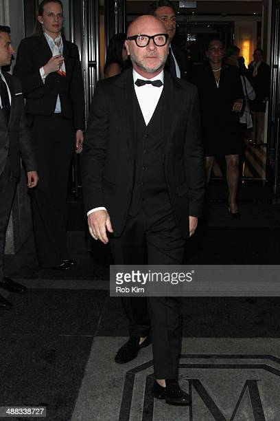 Designer Domenico Dolce departs the Mark Hotel for the Met Gala at the Metropolitan Museum of Art on May 5 2014 in New York City