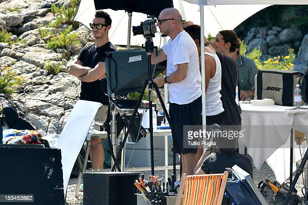 Designer Domenico Dolce is seen on the set of Dolce Gabbana new photography campaign on October 4 2012 in Taormina Italy