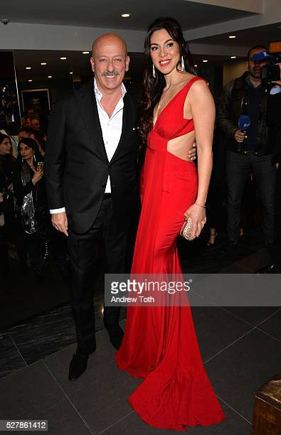 Designer Domenico Vacca and Eleonora Pieroni attend the grand opening of the Domenico Vacca flagship store on May 3 2016 in New York City