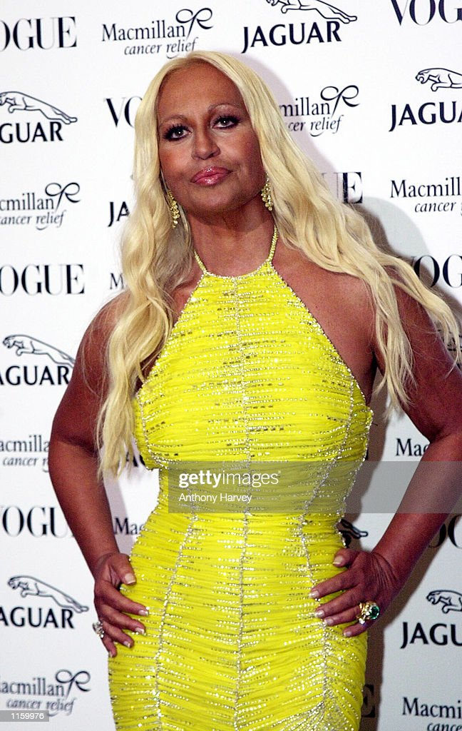 f4e27744779 Designer Donatella Versace arrives at the Vogue & Jaguar