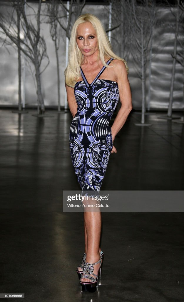 Designer Donatella Versace attends the 2010 Convivio held at Fiera Milano City on June 10, 2010 in Milan, Italy.