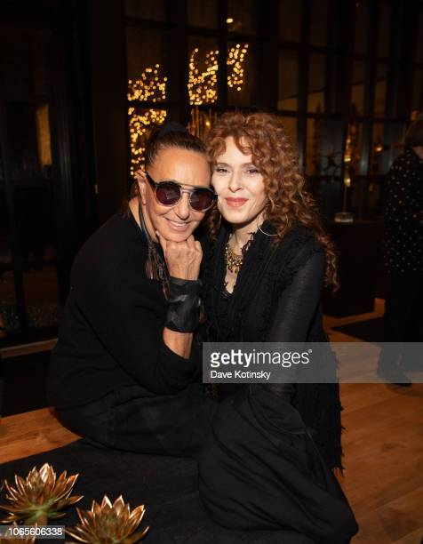 Designer Donna Karan and Actress Bernadette Peters attends the Urban Zen Host Artist And Visionary Robert Lee Morris event at 705 Greenwich Street on...