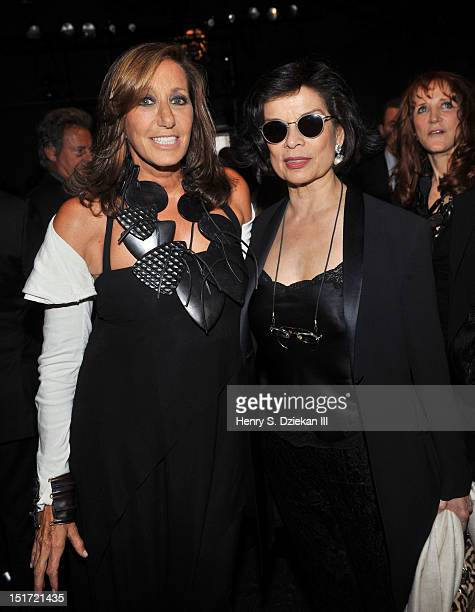 Designer Donna Karan and Bianca Jagger attend the Donna Karan New York show during Spring 2013 MercedesBenz Fashion Week on September 10 2012 in New...