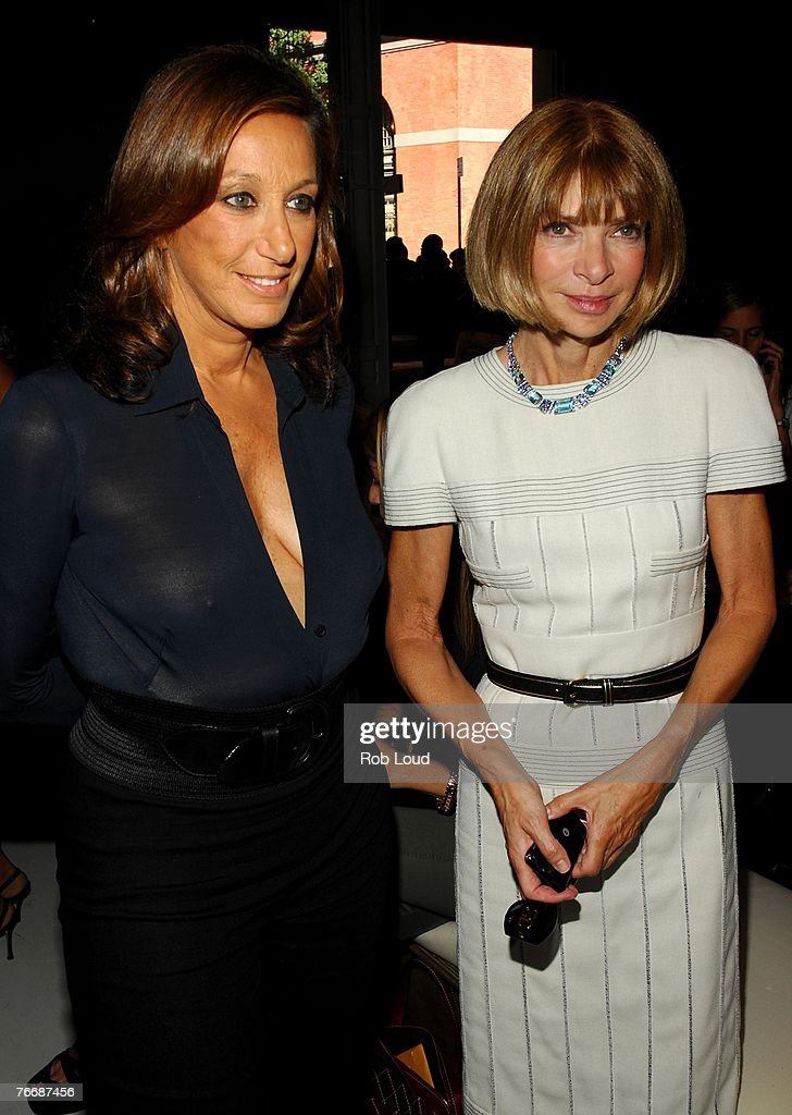 Designer Donna Karan and fashion editor Anna Wintour attend the Donna Karan Collection 2008 Fashion Show during the Mercedes-Benz Fashion Week Spring 2008 on September 12, 2007 in New York City