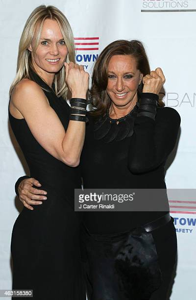 Designer Donna Karan and Lise Evans attend 'Not One More' Event at Urban Zen on February 10 2015 in New York City