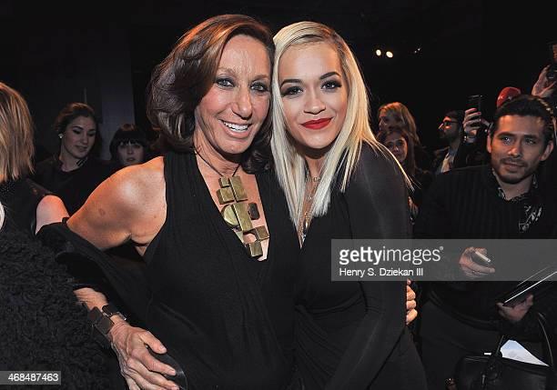 Designer Donna Karan and Rita Ora attend the Donna Karan New York 30th Anniversary Show during MercedesBenz Fashion Week Fall 2014 at 23 Wall Street...