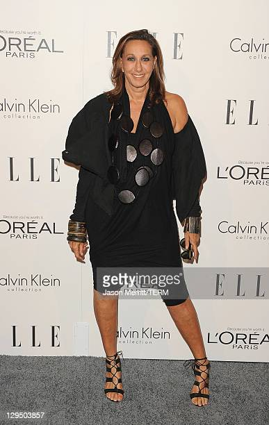 Designer Donna Karan arrives at ELLE's 18th Annual Women in Hollywood Tribute held at the Four Seasons Hotel on October 17 2011 in Los Angeles...