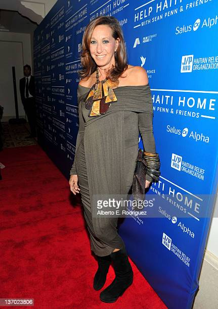 Designer Donna Karan arrives at the Cinema For Peace event benefitting J/P Haitian Relief Organization in Los Angeles held at Montage Hotel on...