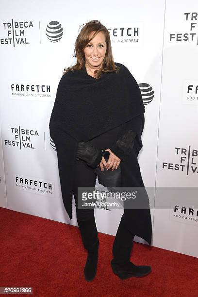 Designer Donna Karan at 'The First Monday In May' World Premiere 2016 Tribeca Film Festival Opening Night at John Zuccotti Theater at BMCC Tribeca...