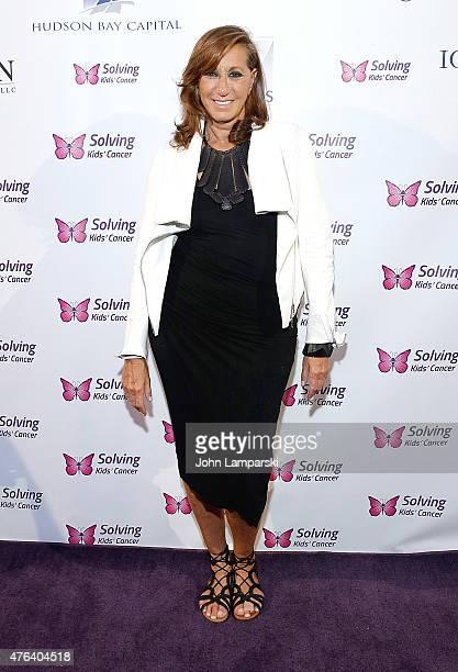 Designer Donna Karan attends 2015 Solving Kids' Cancer Spring Celebration at 583 Park Avenue on June 8 2015 in New York City