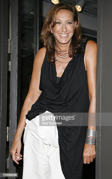 Designer Donna Karan attends a celebration of Eli Halili of Agas Tamar jewelry at Donna Karan's Urban Zen August 6 2007 in New York City