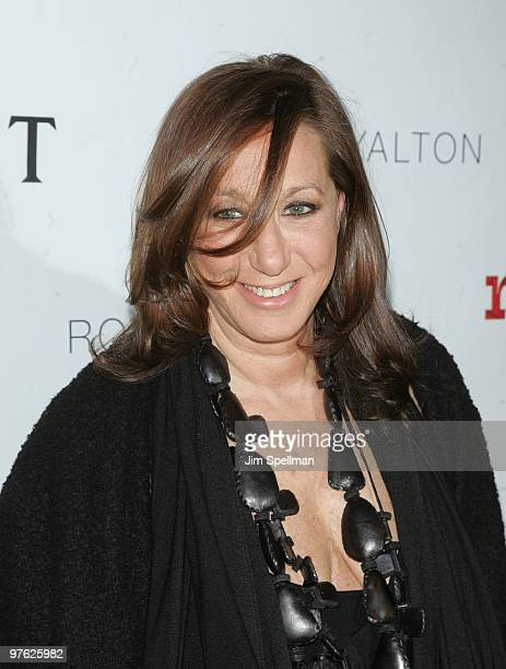 Designer Donna Karan attends a VIP performance of Next Fall on Broadway at the Helen Hayes Theatre on March 10 2010 in New York City