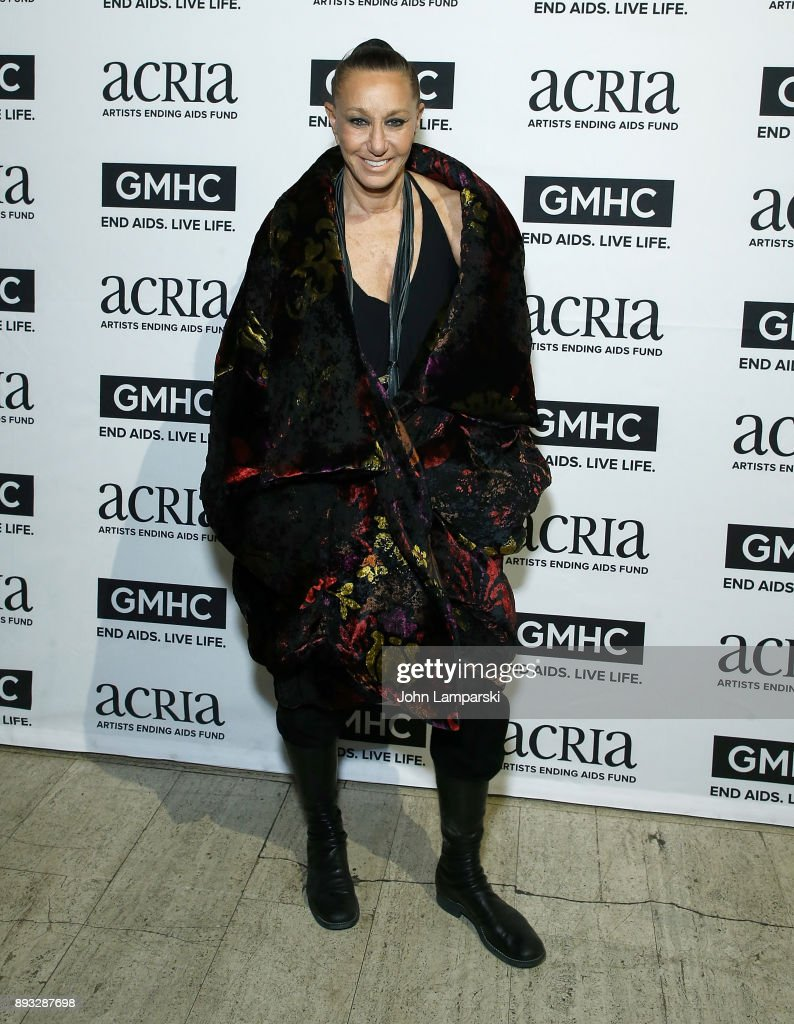 Designer Donna Karan attends ACRIA's 22nd annual holiday dinner at Cipriani 25 Broadway on December 14, 2017 in New York City.