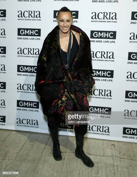 Designer Donna Karan attends ACRIA's 22nd annual holiday dinner at Cipriani 25 Broadway on December 14 2017 in New York City