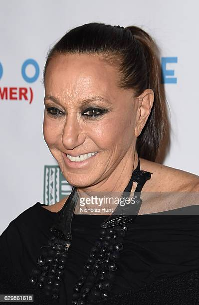Designer Donna Karan attends 'Baby It's Cold Outside' The 2016 Revlon Holiday Concert for The Rainforest Fund Gala at JW Marriott Essex House on...