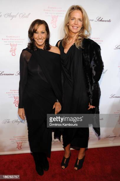 Designer Donna Karan attends Gabrielle's Angel Foundation Hosts Angel Ball 2013 at Cipriani Wall Street on October 29 2013 in New York City