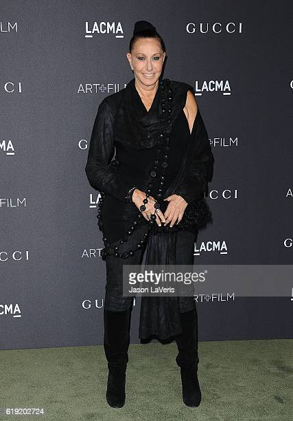 Designer Donna Karan attends the 2016 LACMA Art Film gala at LACMA on October 29 2016 in Los Angeles California