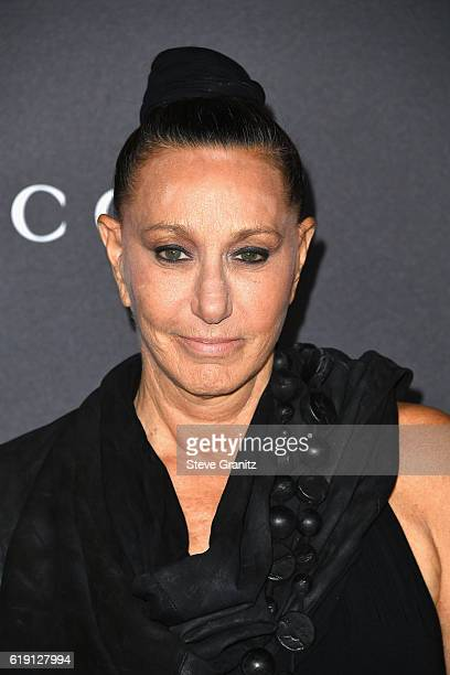 Designer Donna Karan attends the 2016 LACMA Art Film Gala honoring Robert Irwin and Kathryn Bigelow presented by Gucci at LACMA on October 29 2016 in...