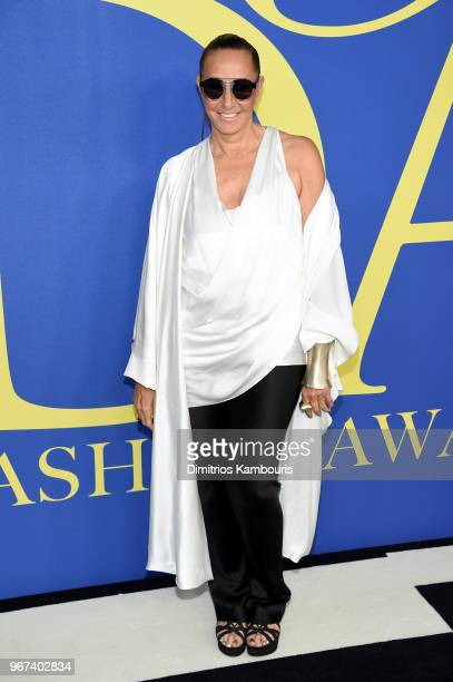 Designer Donna Karan attends the 2018 CFDA Fashion Awards at Brooklyn Museum on June 4 2018 in New York City
