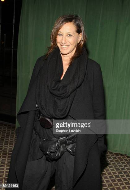 Designer Donna Karan attends the afterparty for a screening of Smart People at The Bowery Hotel March 31 2008 in New York City