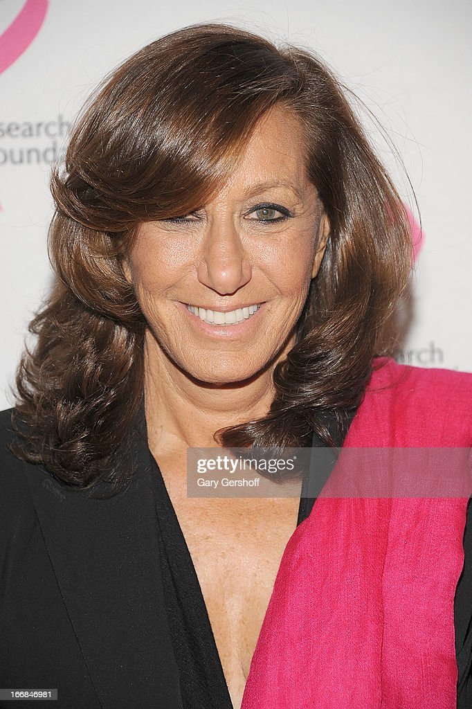 Designer Donna Karan attends The Breast Cancer Research Foundation's 2013 Hot Pink Party at The Waldorf=Astoria on April 17, 2013 in New York City.