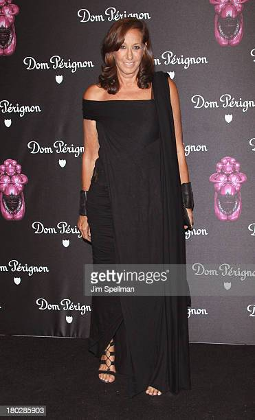 Designer Donna Karan attends the Dom Perignon Limited Edition Jeff Koons Bottle Launch at 711 Greenwich Street on September 10 2013 in New York City