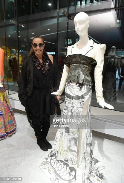 Designer Donna Karan attends The EcoAge Commonwealth Fashion Exchange US Debut presented by Swarovski The Woolmark Company and MATCHESFASHIONCOM at...