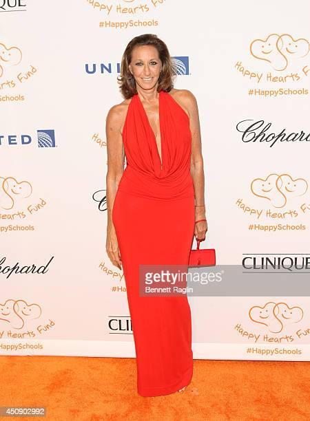 Designer Donna Karan attends the Happy Hearts Fund 10 year anniversary tribute of the Indian Ocean tsunami at Cipriani 42nd Street on June 19 2014 in...