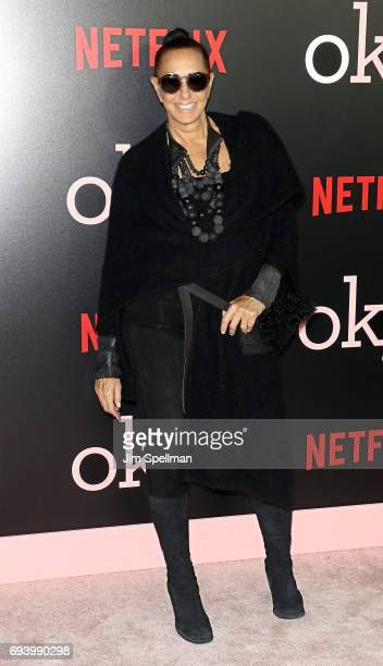 Designer Donna Karan attends The New York premiere of 'Okja' hosted by Netflix at AMC Lincoln Square Theater on June 8 2017 in New York City