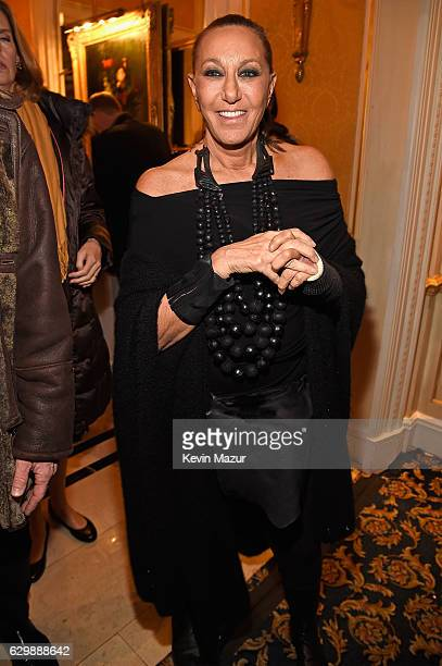 Designer Donna Karan attends The Revlon Concert for the Rainforest Fund 'Baby It's Cold Outside' After Party at Essex House on December 14 2016 in...